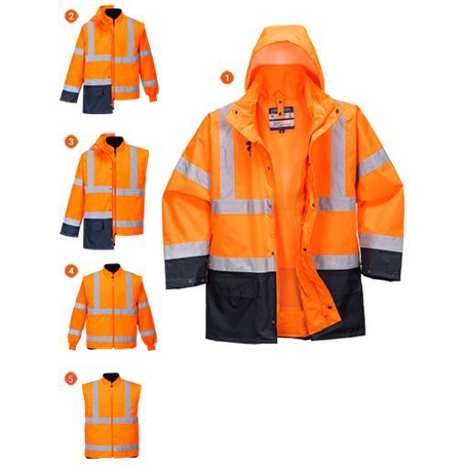 Portwest Essential 5in1 Hi-Vis Jacket