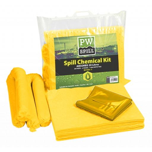 Portwest Spill Chemical Kit 20L (Pk6)