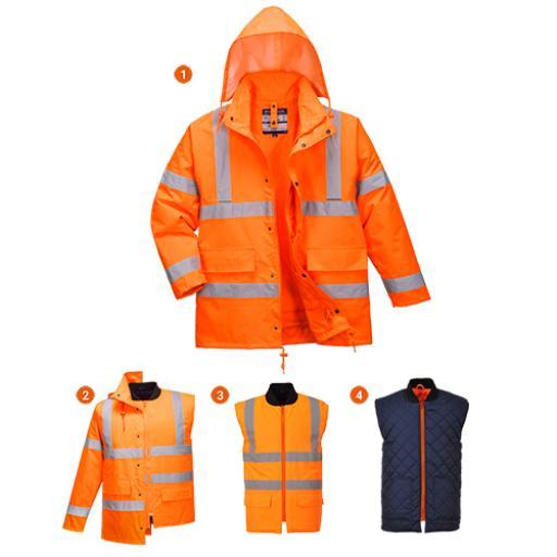 Portwest Hi-Vis 4-in-1 Jacket