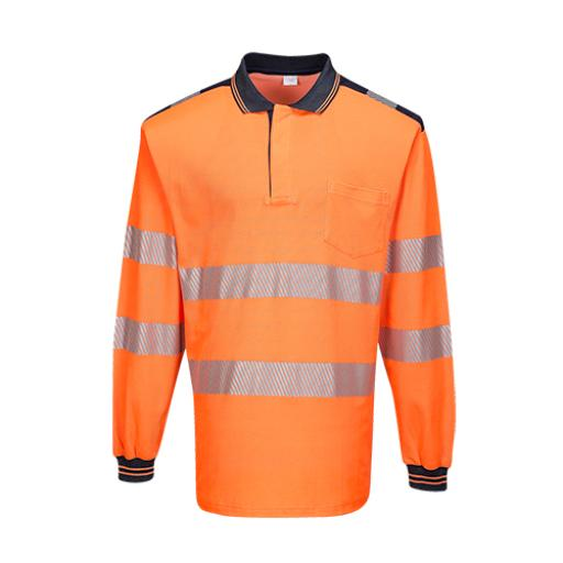 Portwest PW3 Hi-Vis Polo Shirt Long Sleeved
