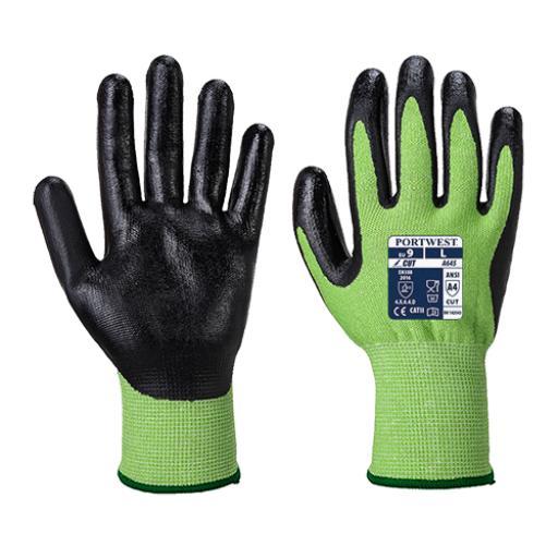 Portwest Green Cut Glove - Nitrile Foam