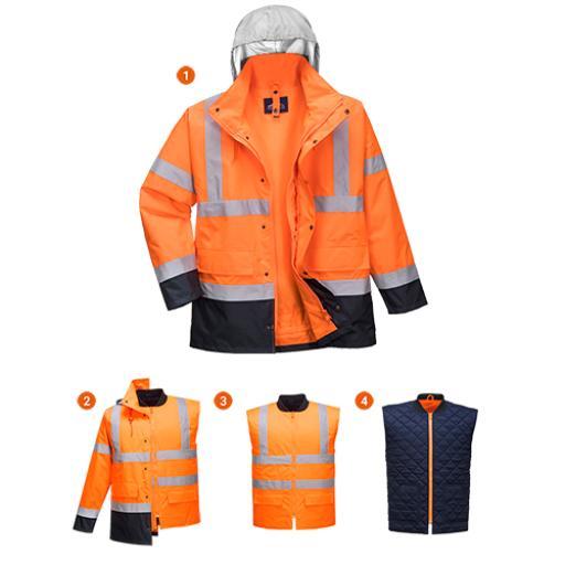 Portwest Hi-Vis 4in1 Contrast Jacket