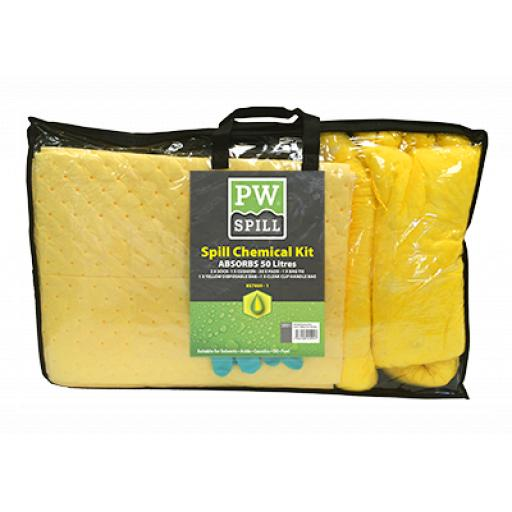 Portwest Spill Chemical Kit 50L (Pk3)