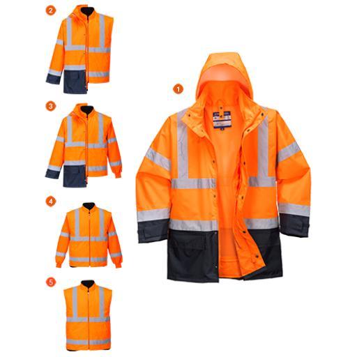 Portwest 5in1 Hi-Vis Executive Jacket
