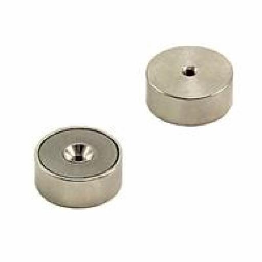 25mm dia Samarium Cobalt Pot Magnet - 16.7kg pull