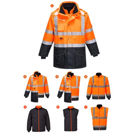 Portwest Hi-Vis 7in1 Contrast Jacket