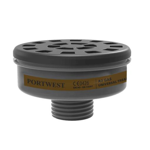 Portwest A2 Gas Filter Uni Tread (Pk6)