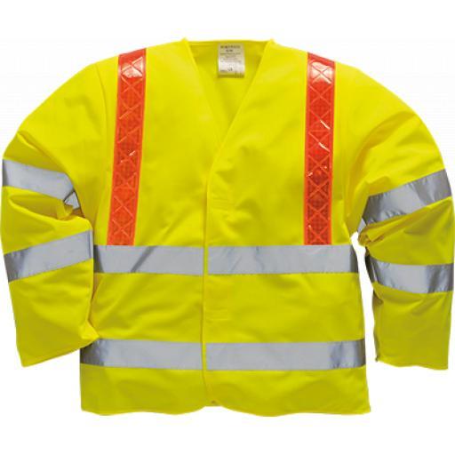 Portwest Hi-Vis Jacket Red Braces