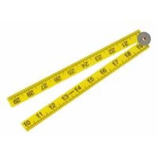 Nylon folding ruler 1metre / 39 inches
