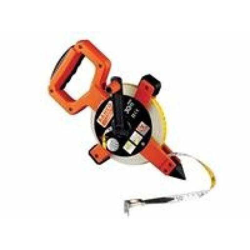 Bahco Open Reel Fibreglass 30m/100ft tape measure - suitable for underwater use